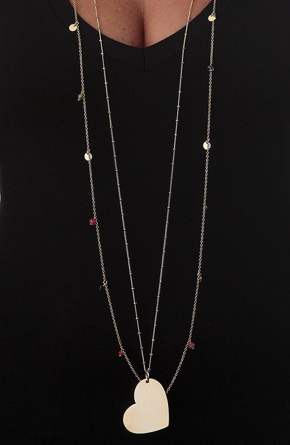 Denise-Indossato-collana-girocollo-Cuore-Perline-Stella-particolari-b