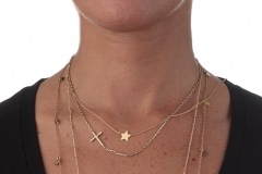 Denise-Indossato-collana-girocollo-Cuore-Perline-Stella-particolari-a